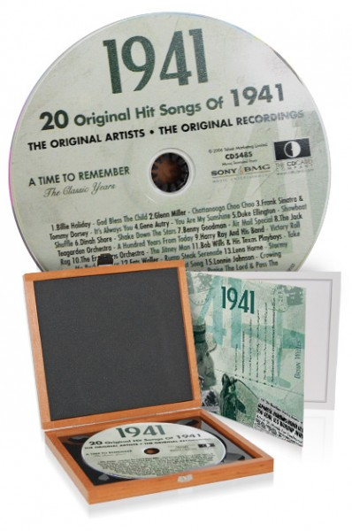 CD 1941 Musik-Hits in Luxusbox