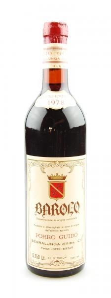 Wein 1978 Barolo Guido Porro