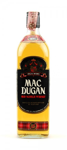 Whisky 1971 Mac Dugan Rare 5 Years Special Reserve