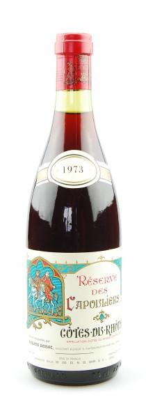 Wein 1973 Reserve des Capouliers Cotes du Rhone