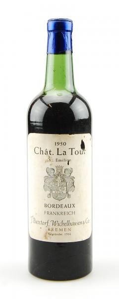 Wein 1950 Chateau La Tour St. Emilion