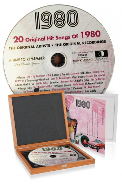 CD 1980 Musik-Hits in Luxusbox
