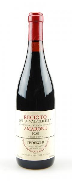 Wein 1980 Amarone Tedeschi Recioto della Valpolicella
