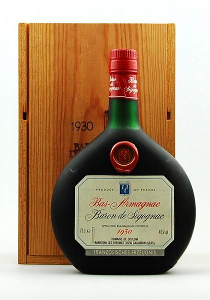 Armagnac 1930 Bas-Armagnac Baron de Sigognac
