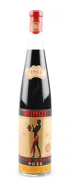 Wein 1958 Vin rose Minos