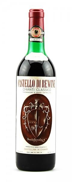 Wein 1969 Chianti Classico Riserva Castello di Rencine