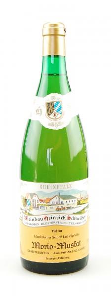 Wein 1981 Edenkobener Schloß Ludwigshöhe Morio-Muskat