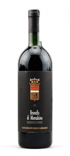 Wein 1991 Brunello di Montalcino Marchesato Aleramici