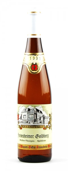 Wein 1991 Freinsheimer Goldberg Spätlese Müller-Thurgau