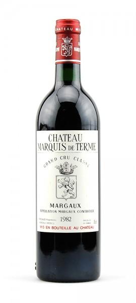 Wein 1982 Chateau Marquis de Terme 4eme Cru Classe