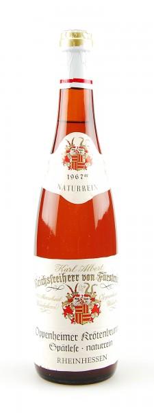 Wein 1967 Oppenheimer Krötenbrunnen Spätlese