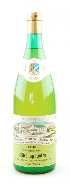 Wein 1981 Edenkobener Bergel Riesling trocken