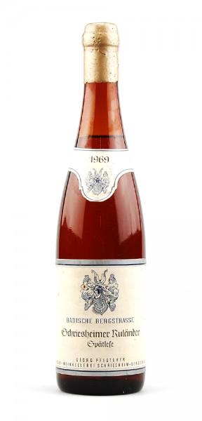 Wein 1969 Schriesheimer Ruländer Spätlese