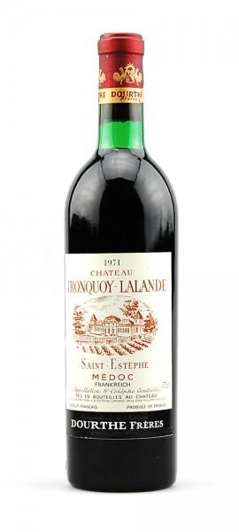 Wein 1971 Chateau Tronquoy Lalande Cru Bourgeois