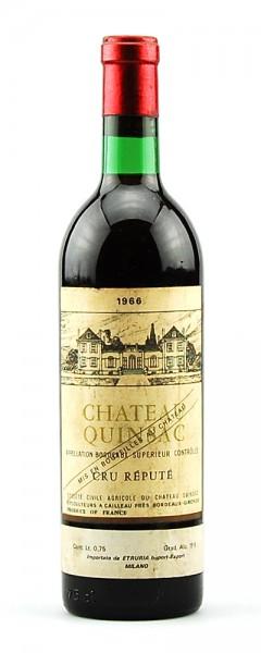 Wein 1966 Chateau Quinsac Cru Repute