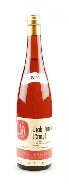 Wein 1974 Hahnheimer Knopf Riesling Kabinett