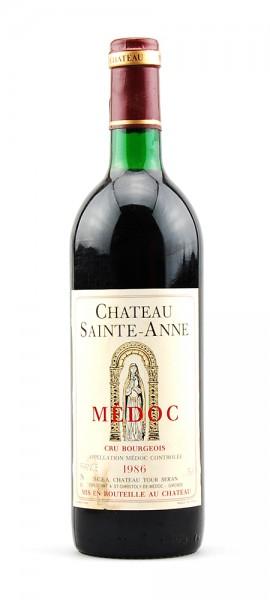 Wein 1986 Chateau Saint-Anne Cru Borgeois Medoc