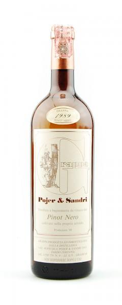 Grappa 1989 Pinot Nero Pojer & Sandri