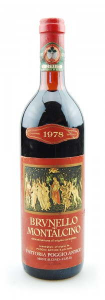 Wein 1978 Brunello di Montalcino Poggio Antico