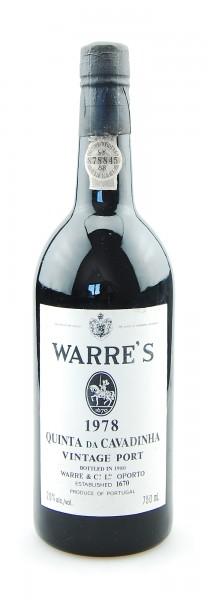 Portwein 1978 Warre's Vintage Port - Top-Rarität