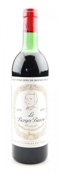 Wein 1979 Le Berger Baron Philippe de Rothschild