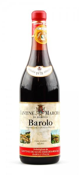 Wein 1978 Barolo Marchesi di Barolo