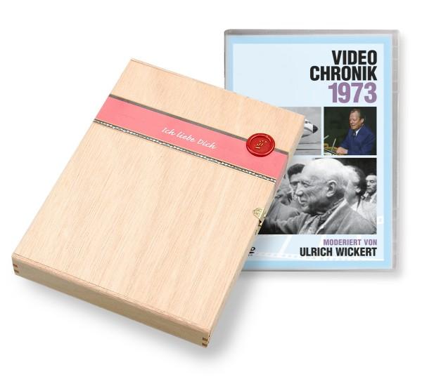 DVD 1973 Chronik Deutsche Wochenschau in Holzkiste
