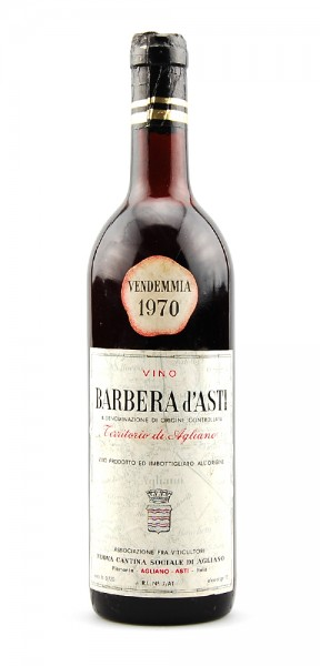 Wein 1970 Barbera d-Asti Cantina Agliano