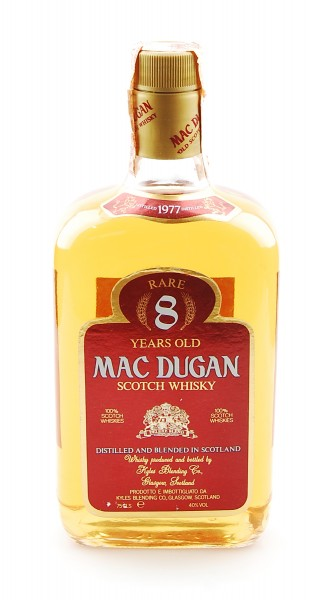 Whisky 1977 Mac Dugan Rare 8 Years Blended Scotch