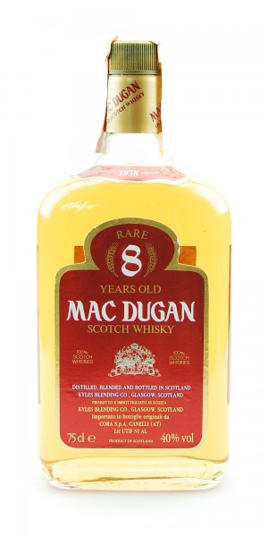Whisky 1978 Mac Dugan Rare 8 Years Blended Scotch