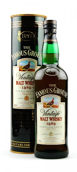 Whisky 1989 The Famous Grouse Vintage Malt Whisky