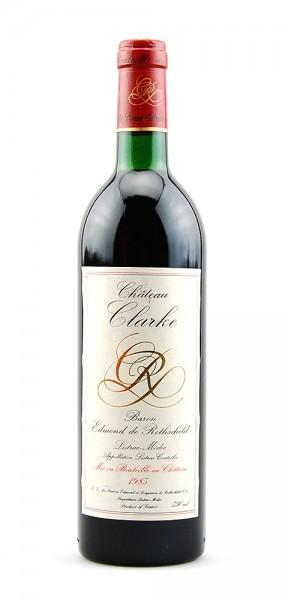 Wein 1985 Chateau Clarke Baron de Rothschild Listrac