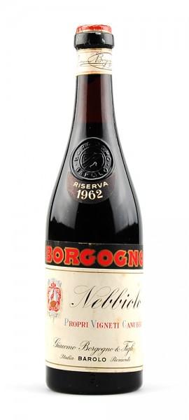 Wein 1962 Nebbiolo Giacomo Borgogno Riserva