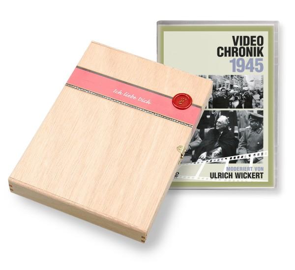DVD 1945 Chronik Deutsche Wochenschau in Holzkiste