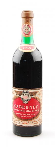 Wein 1959 Cabernet delle Grave del Piave