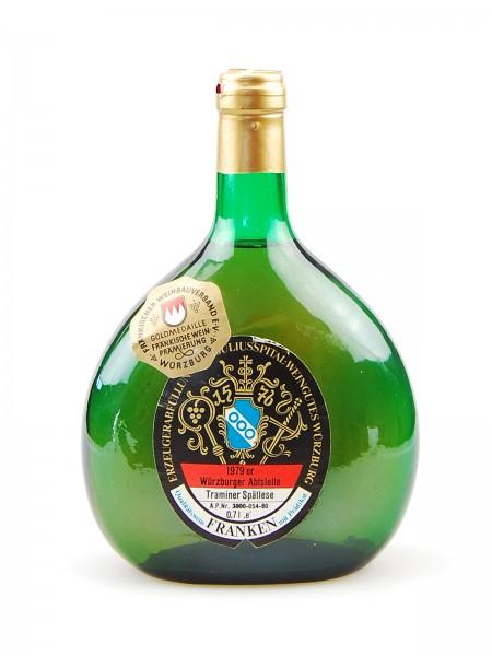 Wein 1979 Würzburger Abtsleite Traminer Spätlese
