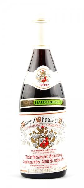 Wein 1988 Niederflörsheimer Frauenberg Spätlese