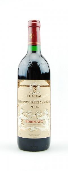 Wein 2004 Chateau La Commanderie de Saint Genis