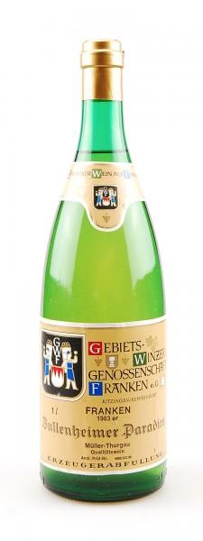 Wein 1983 Bullenheimer Paradies Müller-Thurgau