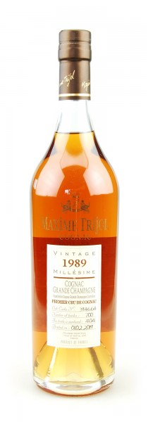 Cognac 1989 Maxime Trijol Grande Champagne