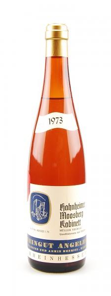 Wein 1973 Hahnheimer Moosberg Kabinett