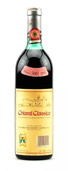 Wein 1984 Chianti Classico Fattoria Belvedere Campoli