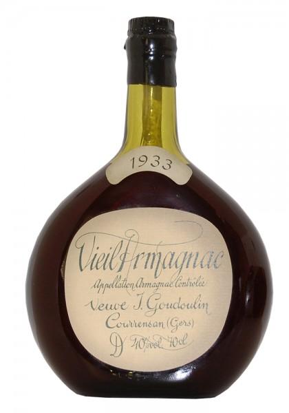 Armagnac 1933 Vieil Goudoulin