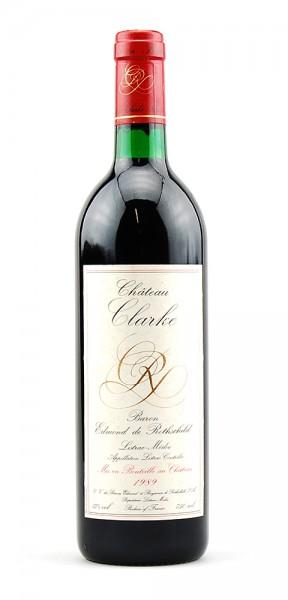 Wein 1989 Chateau Clarke Baron de Rothschild