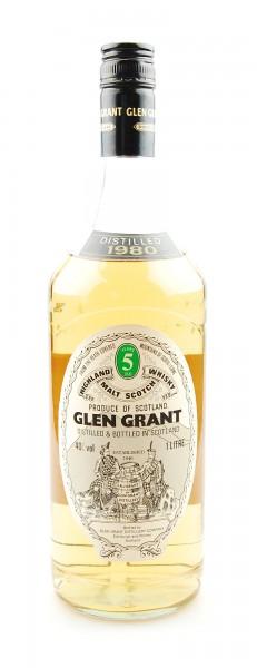 Whisky 1980 Glen Grant Malt Whisky 5 years 1 Liter