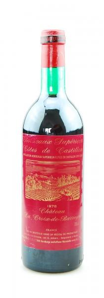 Wein 1978 Chateau La Croix-de-Barreyre