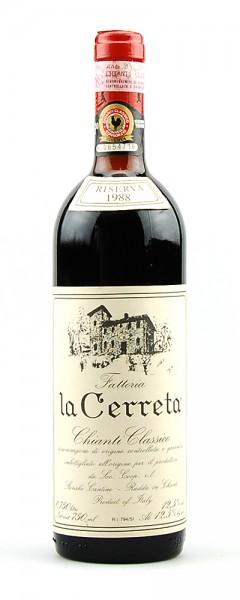 Wein 1988 Chianti Classico Riserva Fattoria la Cerreta