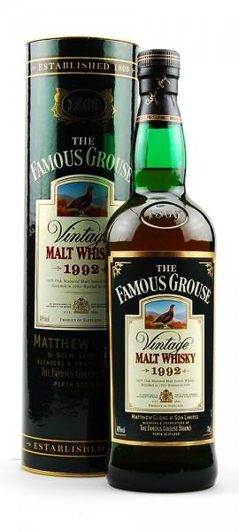 Whisky 1992 The Famous Grouse Vintage Malt Whisky