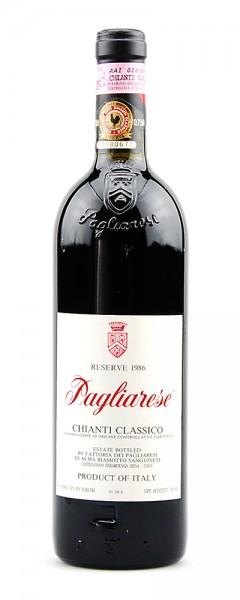 Wein 1986 Chianti Classico Pagliarese Riserva