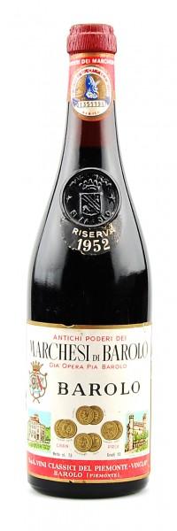 Wein 1952 Barolo Marchesi di Barolo Gia Opera Riserva